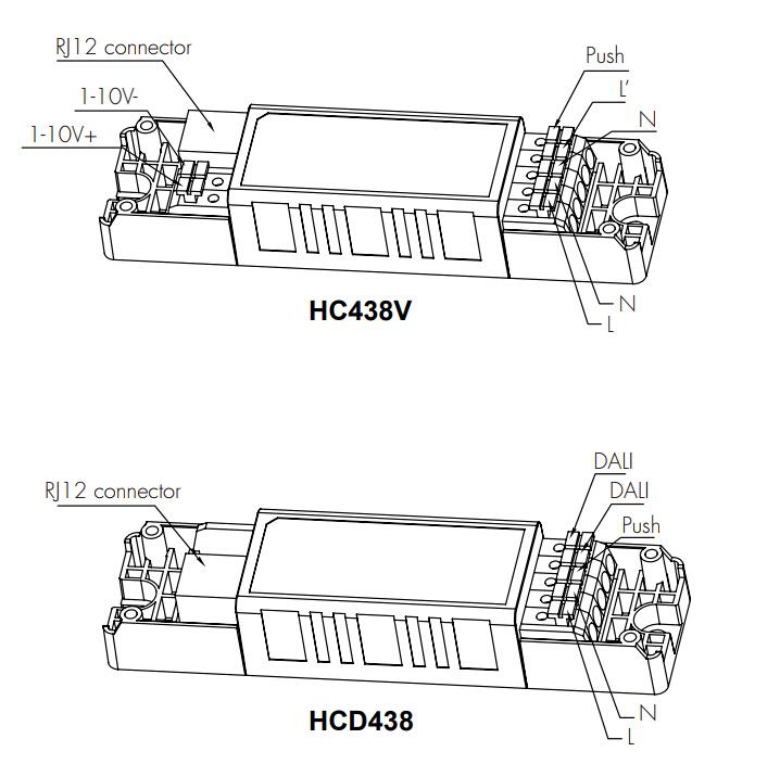 detached linear sensor hc438v    hcd438 tri