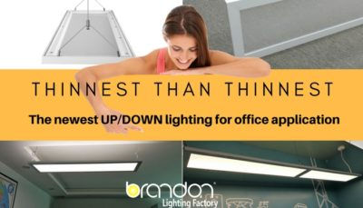 Up/down suspended linear led lighting