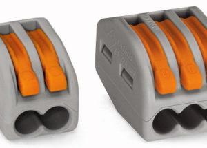 Compact splicing connectors