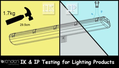 IK and IP testing for lighitng products
