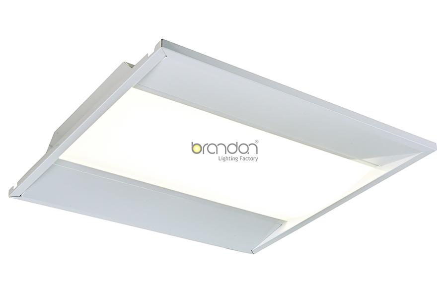 LED lensed troffer
