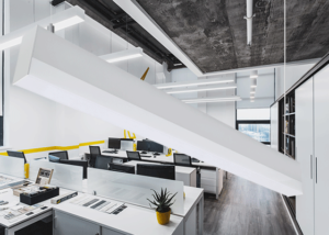 drop lens office pendant light
