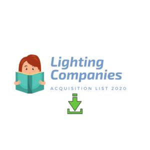 Lighting Companies mergers