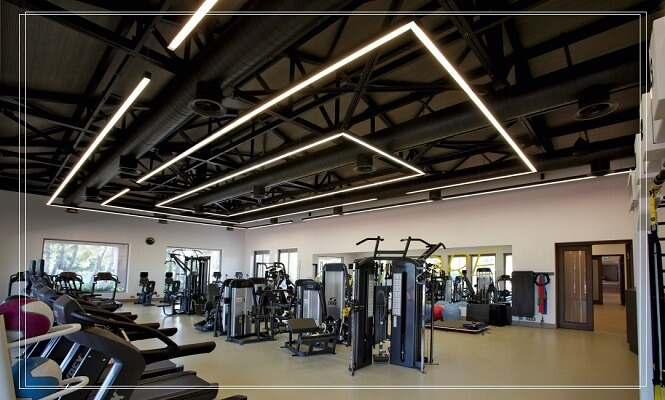 LED gym fixtures