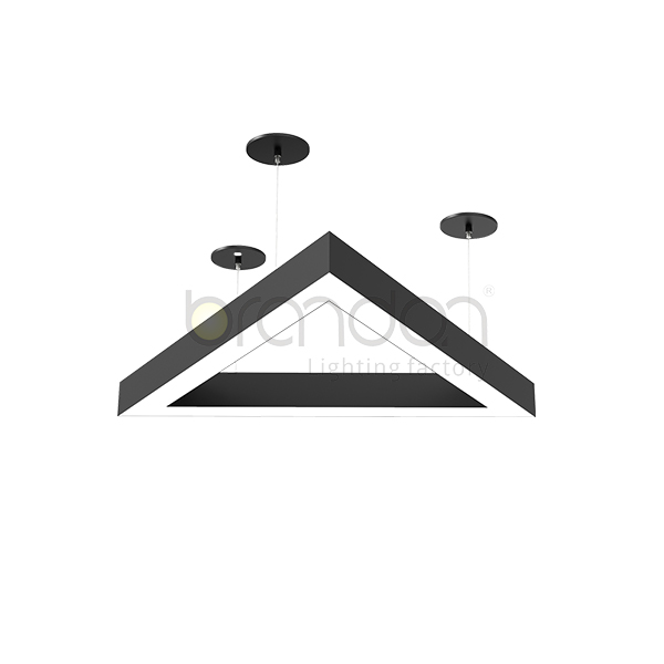 Triangle dropped ceiling light fixtures