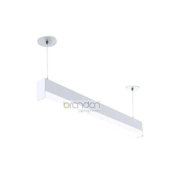 Drop lens hanging lights for office