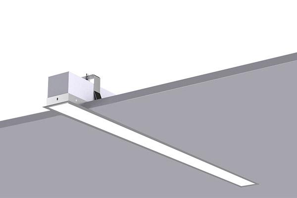 T Bar recessed luminaire