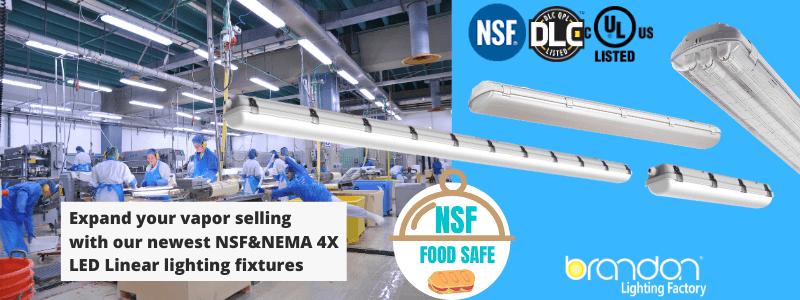 NSF LED lighting manufacturer